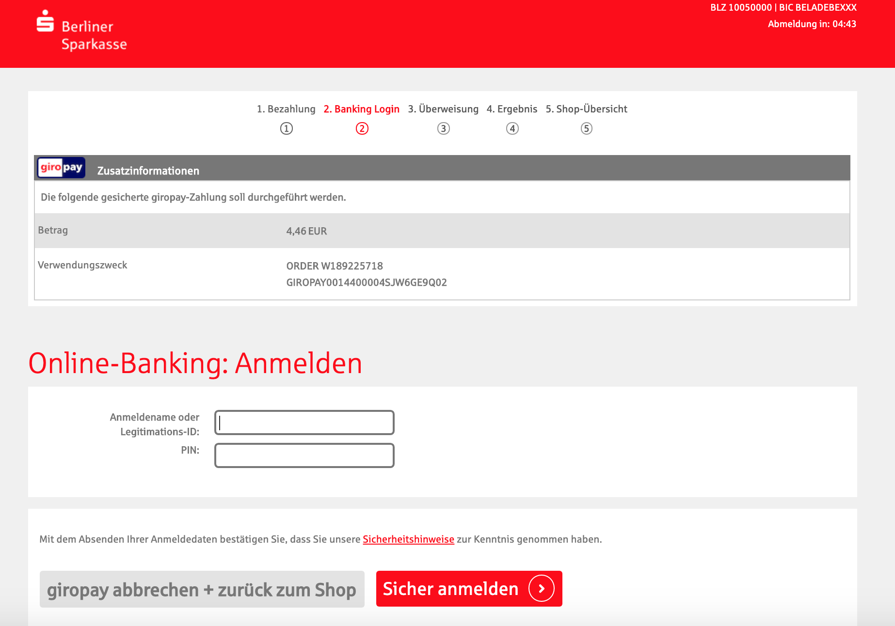 Giropay Sparda Bank