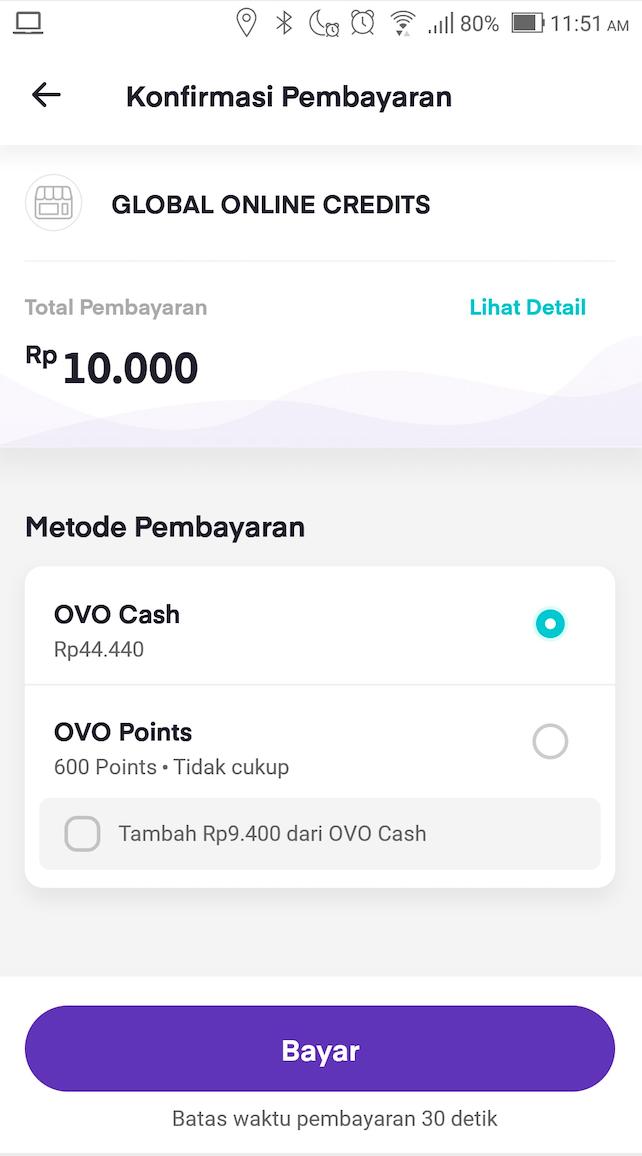 Payment Method Ovo